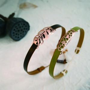 Prayer Bamboo Leaf Chain - Earring ;Necklace; Bracelet