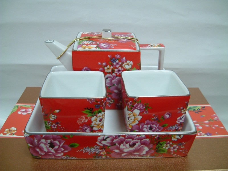 Red Pot Set