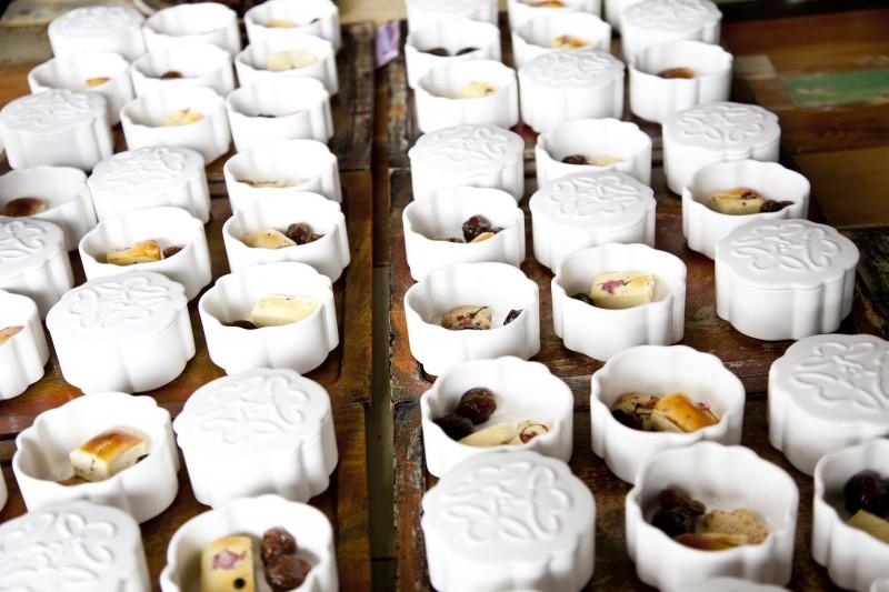 金銀花菓子皿