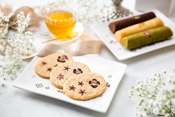 【最佳設計獎】花見餅乾、詩味。台灣茶詩蛋糕