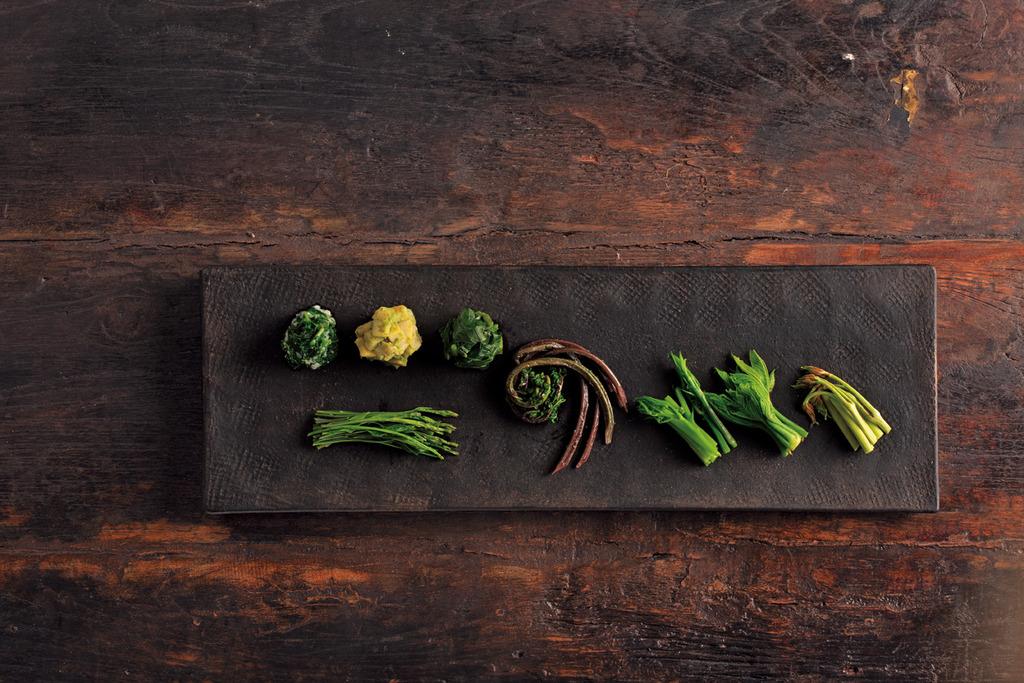 里山十帖使用當地特殊山菜