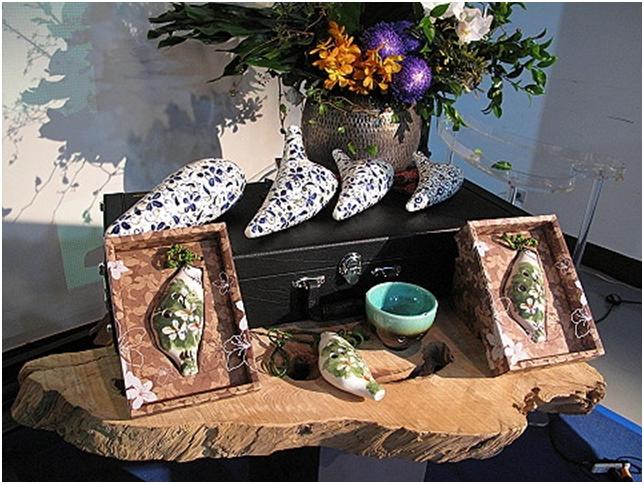 苗栗茶陶產業,陶製品多元豐富,臺灣形狀陶笛更能凸顯臺灣風情。