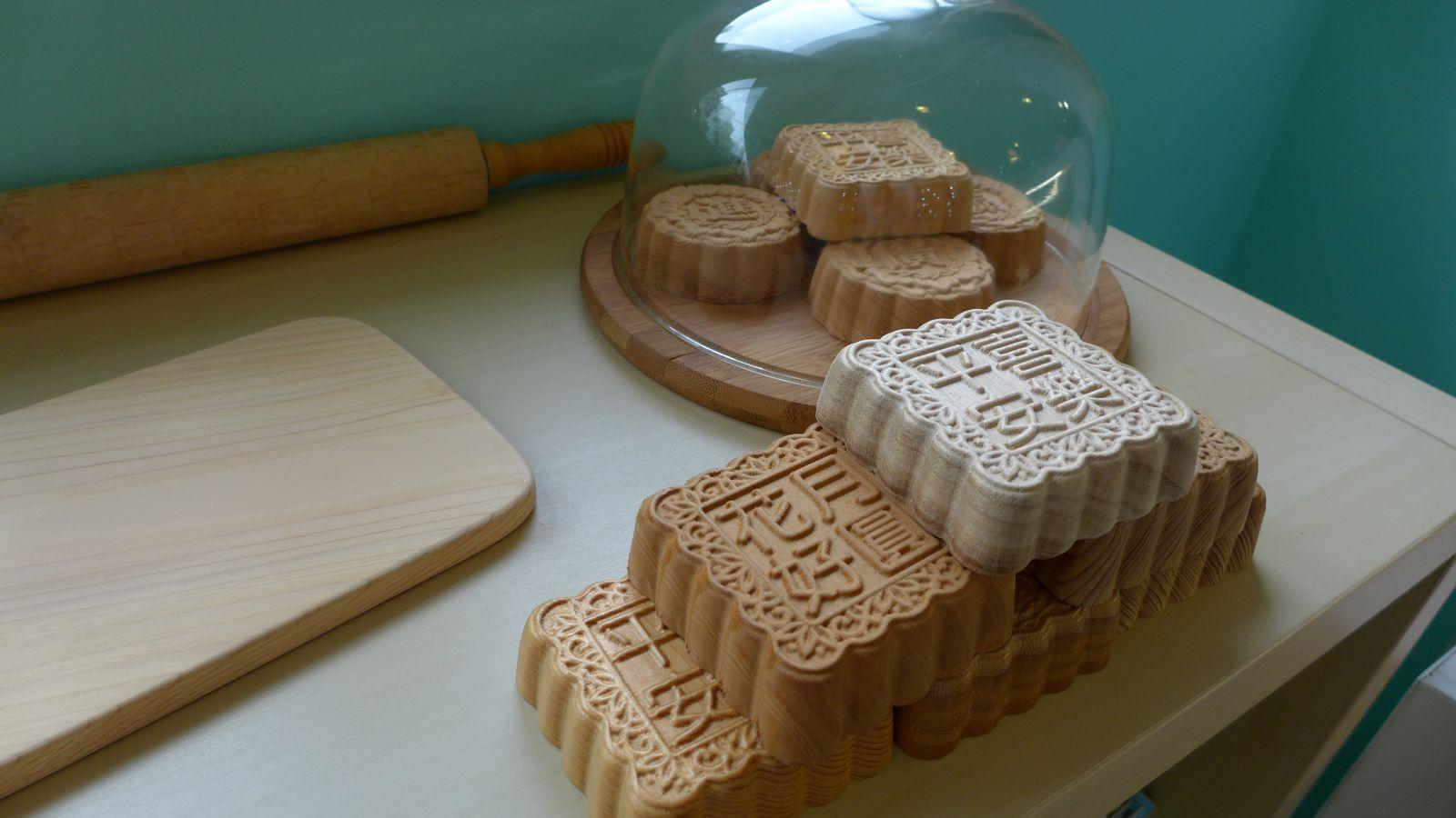 木藝文創商品中式糕餅小盒