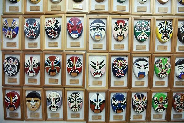山板樵臉譜文化生活館 各式各樣的面具