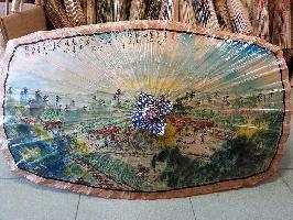 長方形傘-鄉村圖