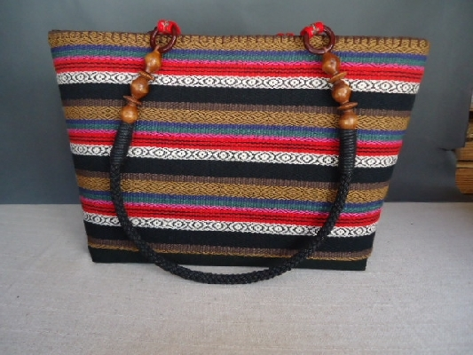 織布百合包 背面 其他圖片1