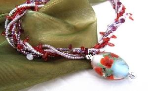 纏繞之戀-手作琉璃珠項鍊