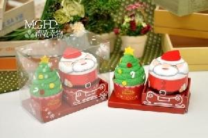 塔公公和聖誕樹蛋糕毛巾