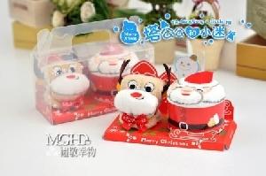 塔公公和小迷-聖誕蛋糕毛巾