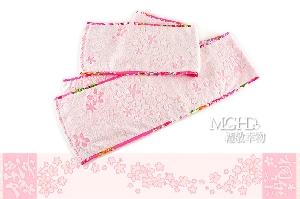 好客桐樂-花布邊口袋運動巾(花季)