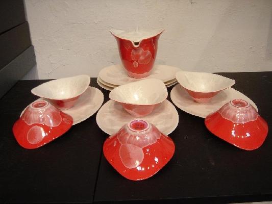 千塘茶具組-13件(紅) 封面圖片