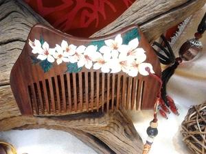 桐花系列彩繪木梳 封面圖片