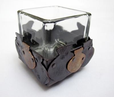 複合材質-玻璃與金屬,簡約四方造型 封面圖片