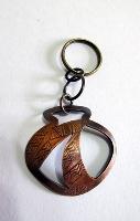 原潮平面陶壺鑰匙圈