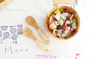 la-boos 和風花鳥兒童餐具組