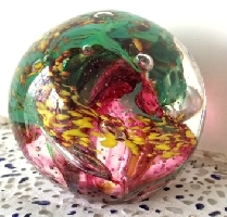 琉璃精品-星球系列 紫紅色星球