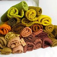 """貓裏特""""色""""天然染-羊毛圍巾"""
