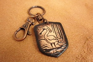 黑面琵鷺鑰匙圈