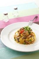 地中海南瓜干貝蟹肉燉飯